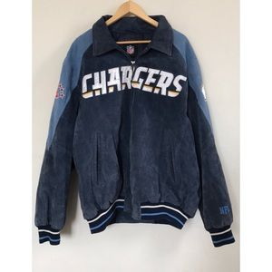 Vintage Chargers Leather Coat